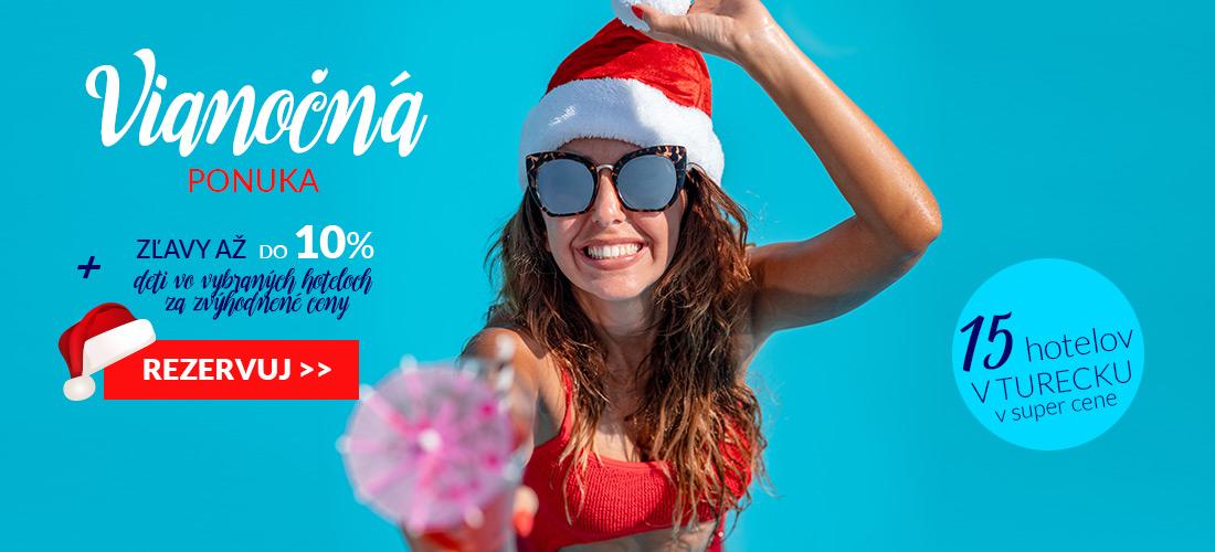 K prebiehajúcim FIRST MINUTE zľavám sme pridali vianočnú dodatočnú zľavu na  vybrané turecké hotely do výšky až 10% cd0b7629cc3